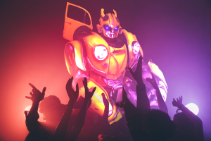 Bumblebee at dance party