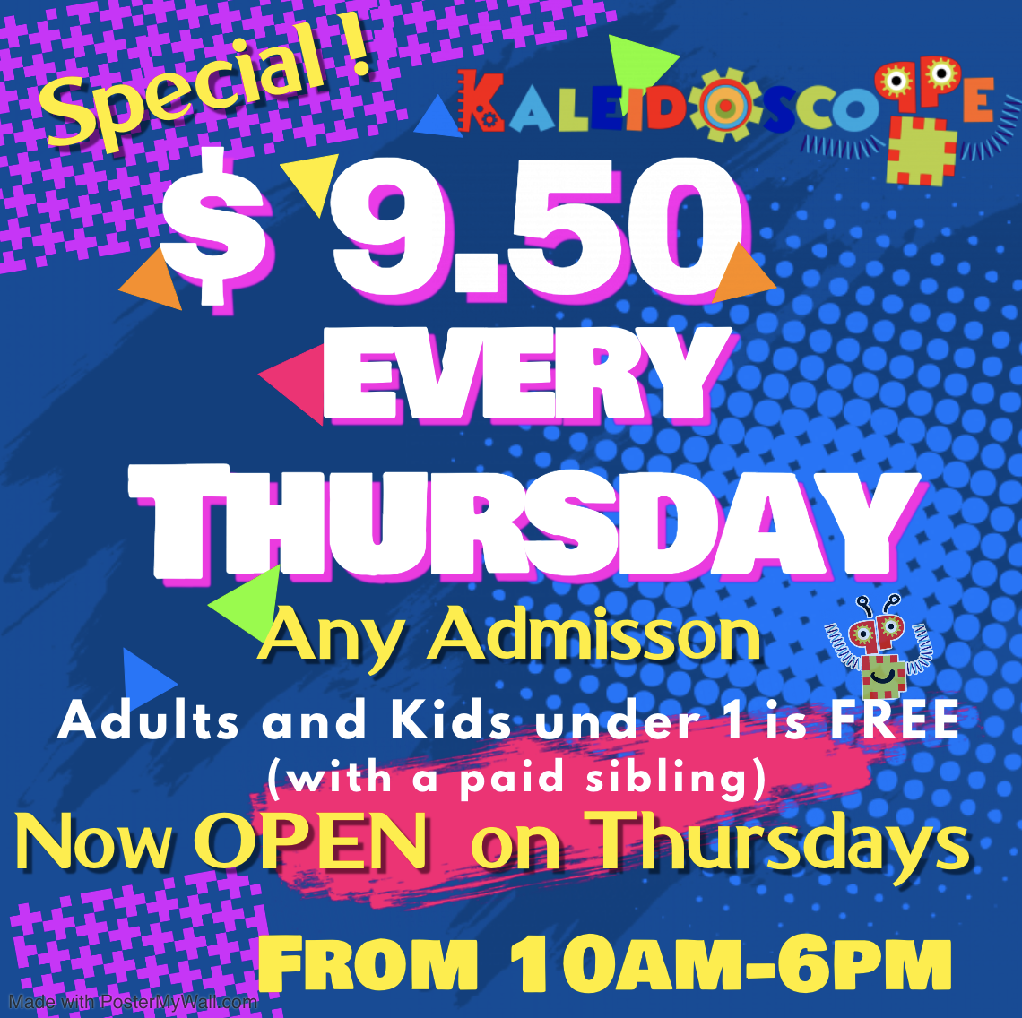 Indoor playground special promotion